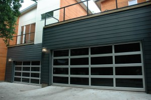 contemporary style glass garage door madison wi